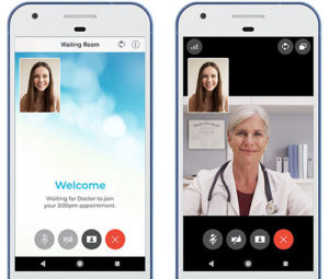 patient waiting room - virtual mobile phone